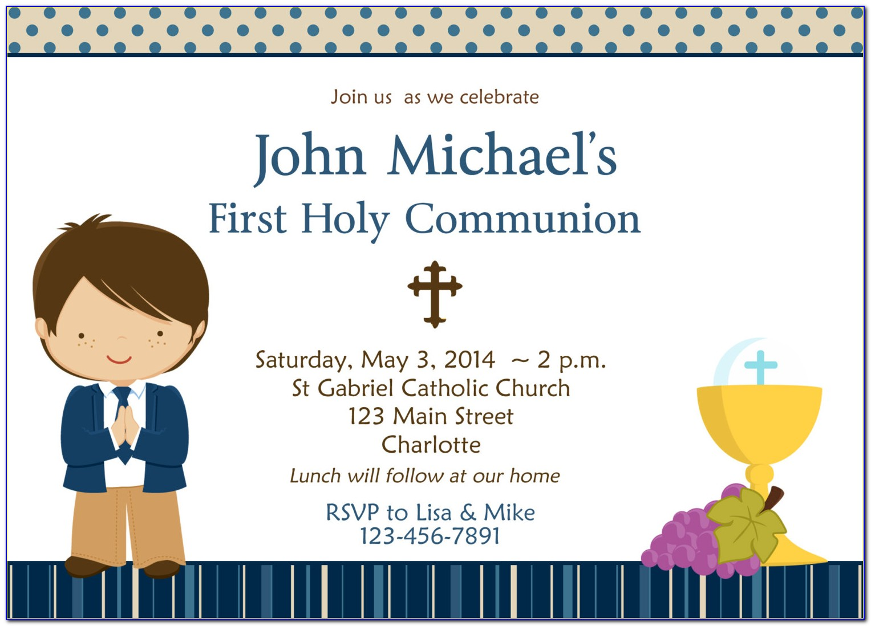 First Communion Invitation Sample Wording