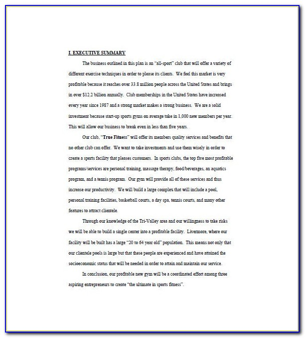 Fitness Center Contract Template