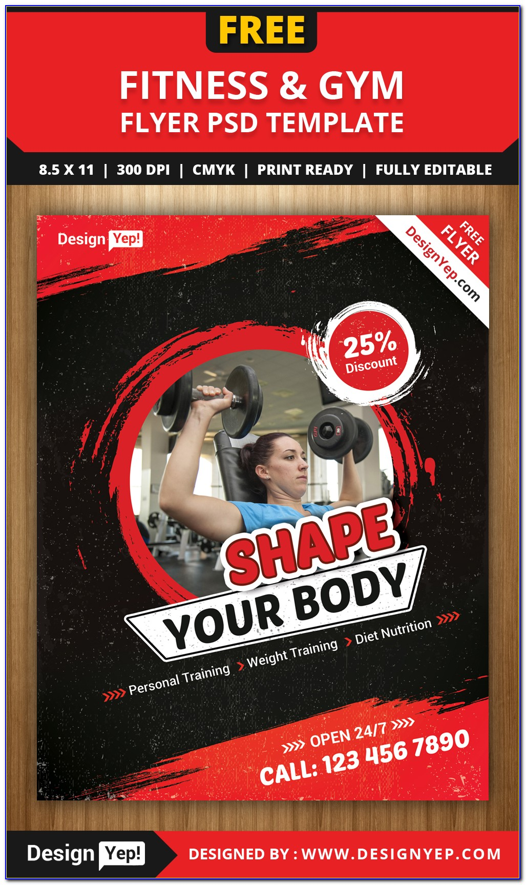 Fitness Flyer Template Word Free