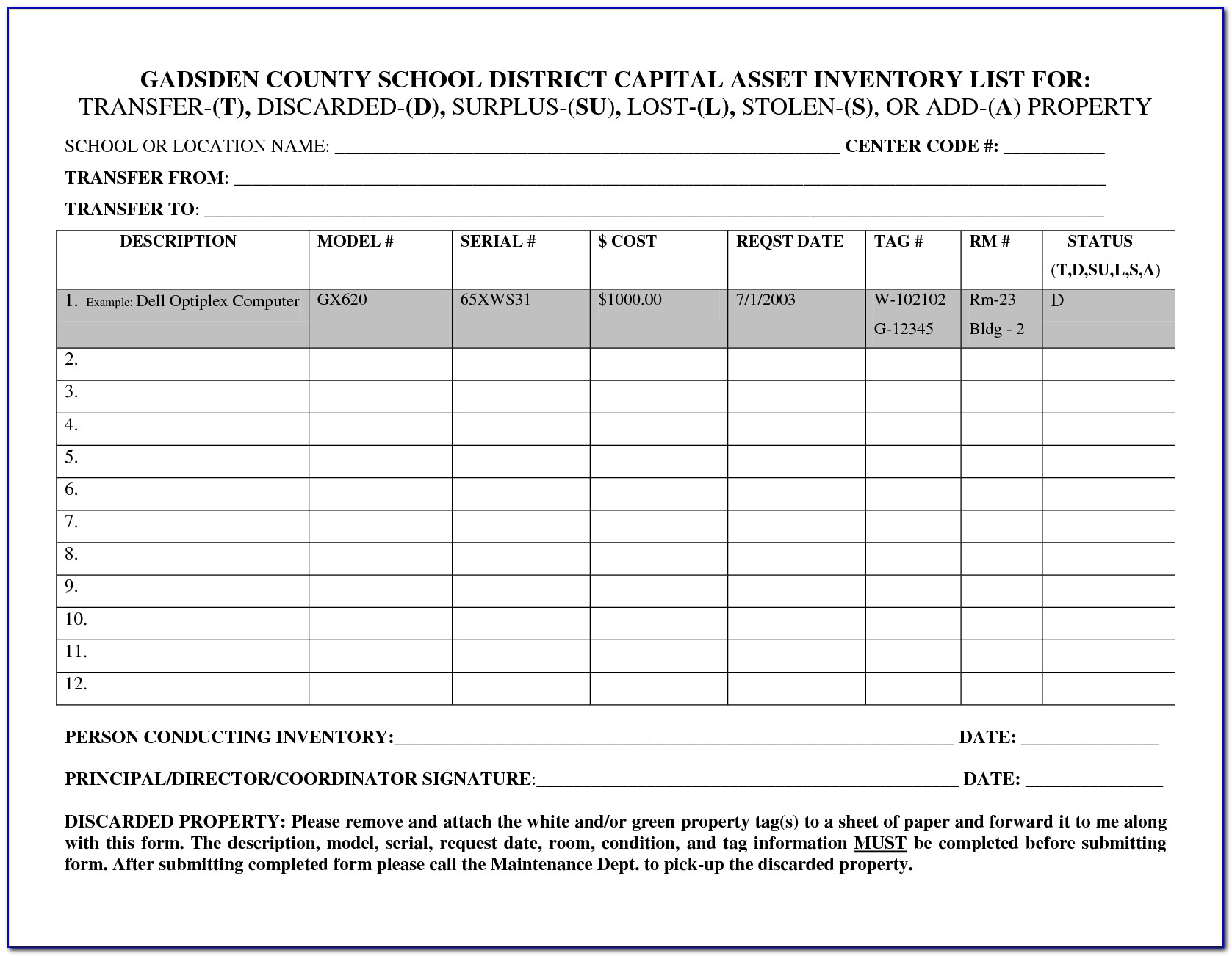 Fixed Asset Register Template Nz