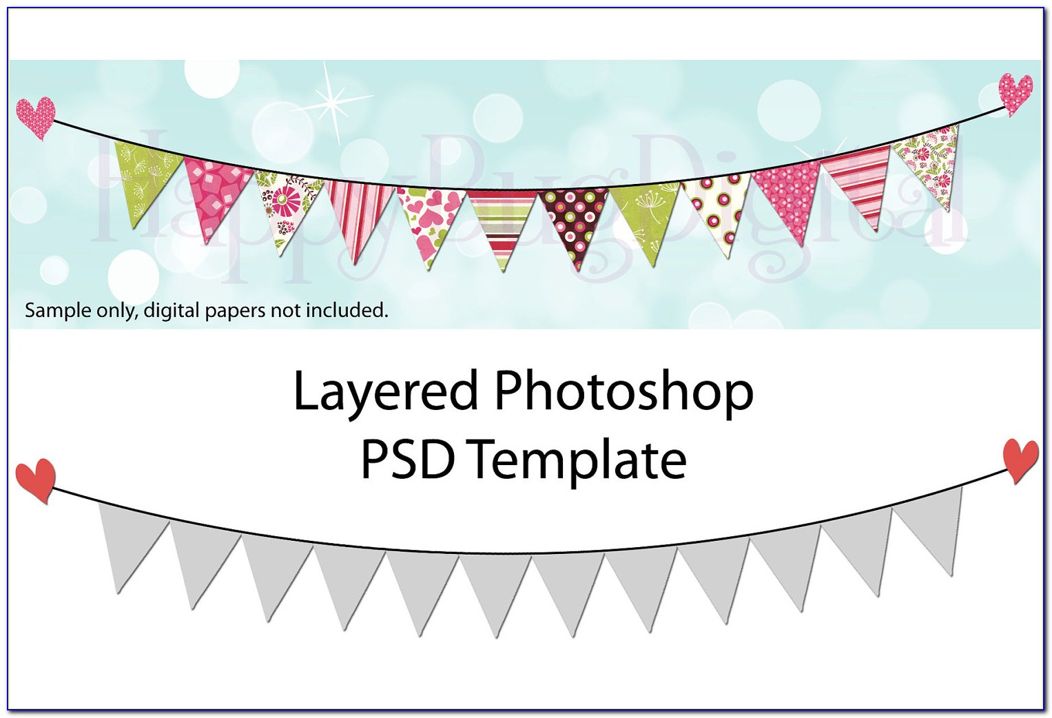 Flag Banner Template Photoshop