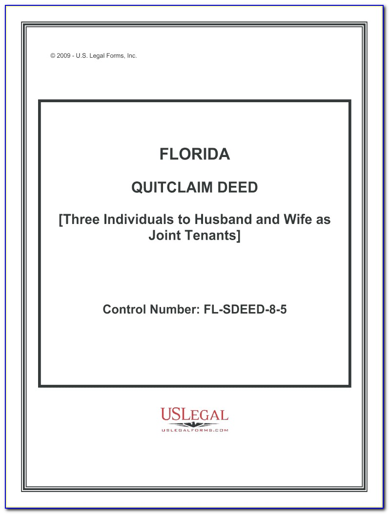 Florida Quit Claim Deed Template