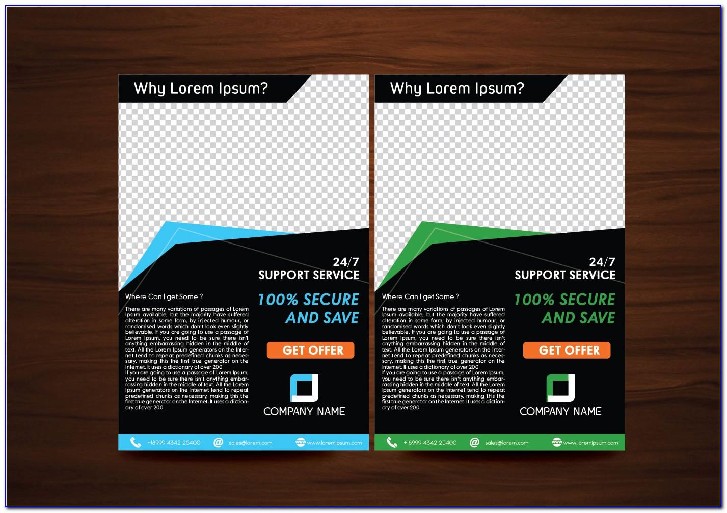 Flyer Design Template Vector Free Download