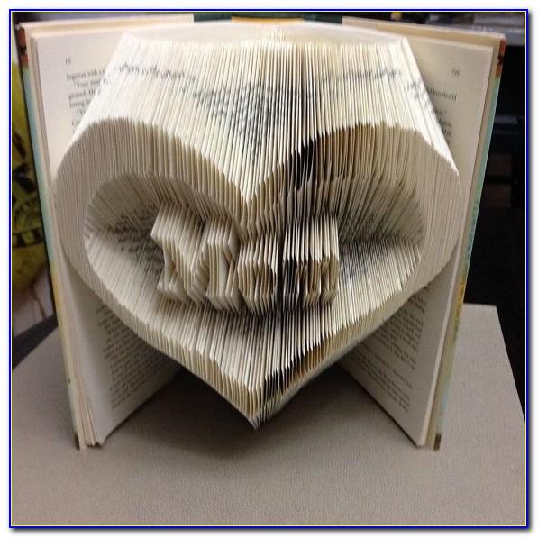 Folded Book Art Template Love