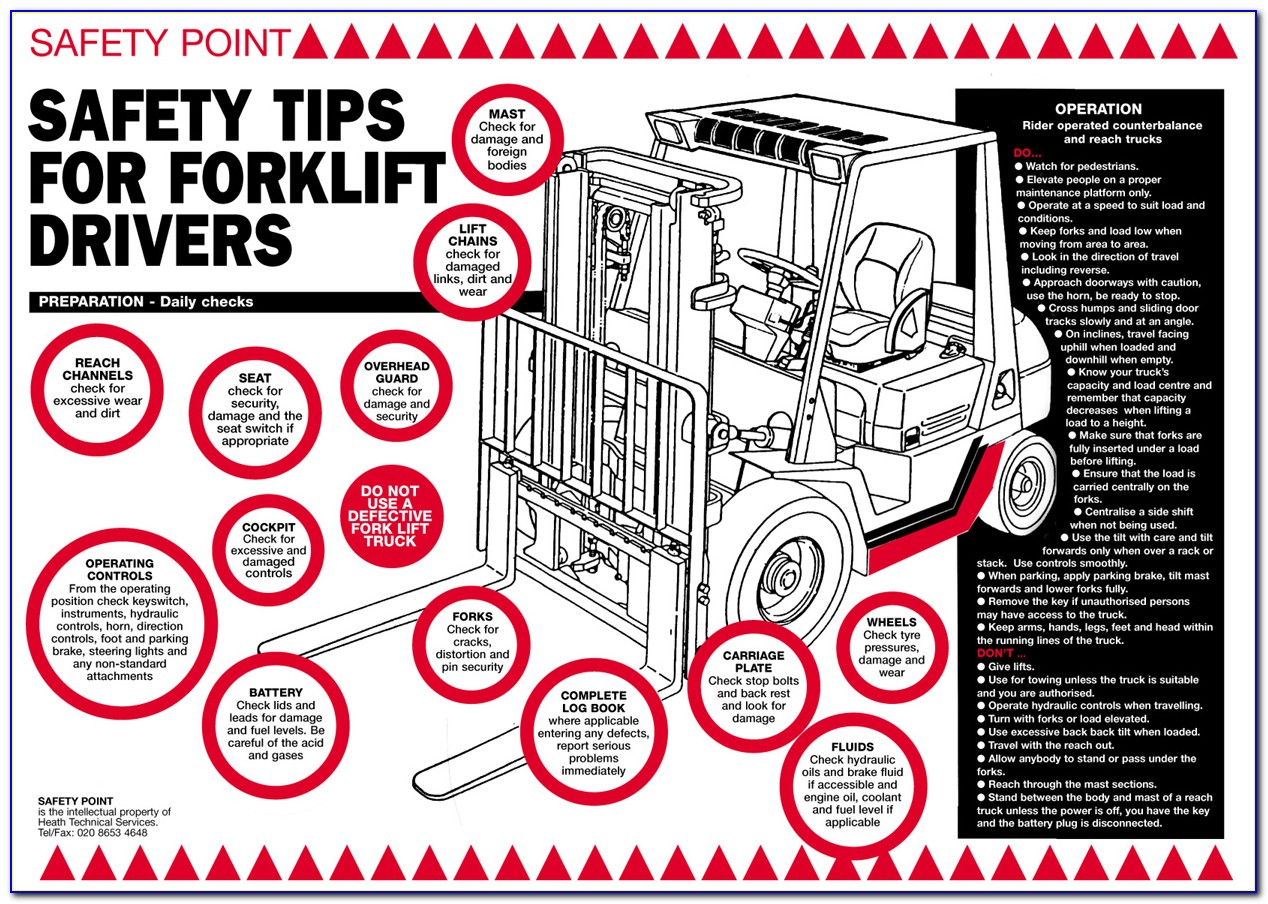 Forklift Driver Certificate Template