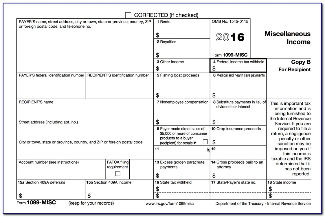 Form 1099 Misc 2013 Template