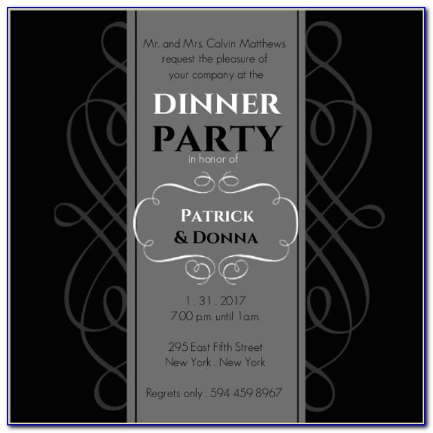 Formal Dinner Invitation Letter Template