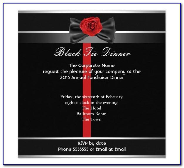 Formal Dinner Invitation Sample Wording