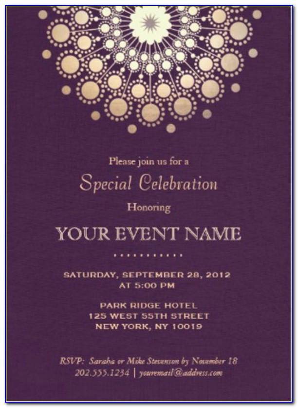Formal Event Invitation Email Template