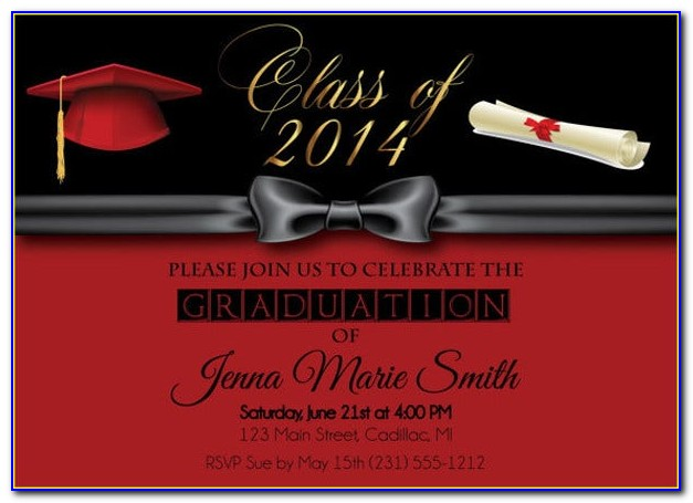 Formal Graduation Invitation Templates