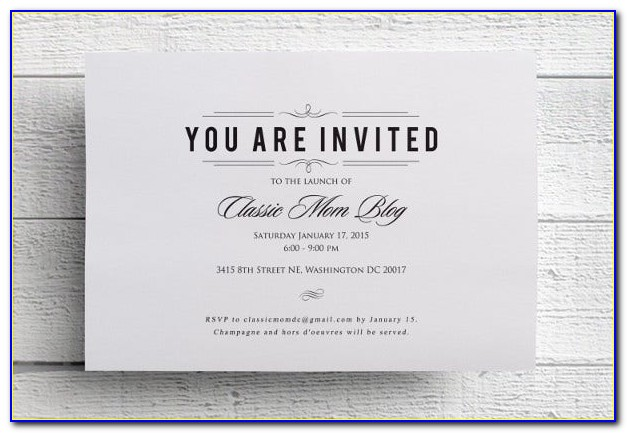 Formal Invitation Email Sample For An Event