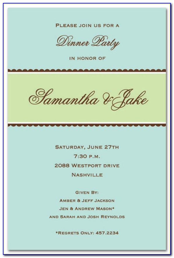 Formal Invitation Template For An Event