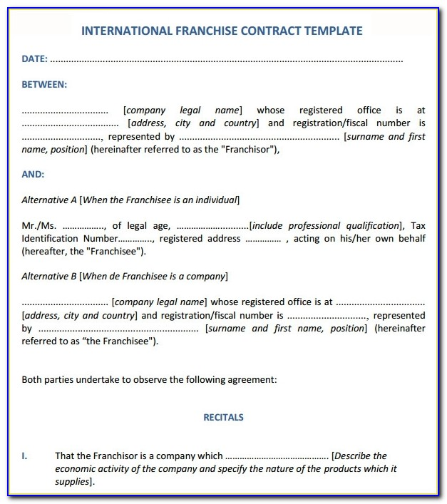 Franchise Agreement Sample In India Pdf