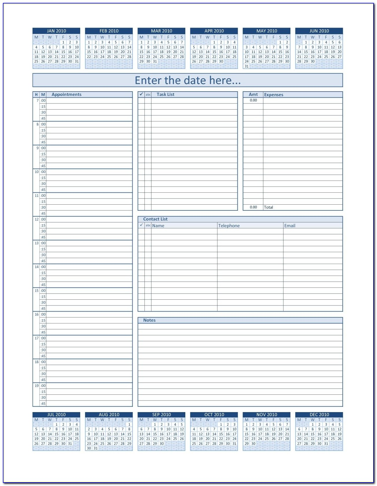 Franklin Covey Weekly Planner Template Excel