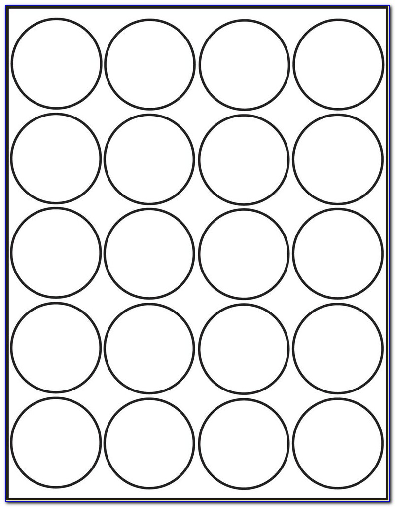 Free 1 Inch Round Label Template