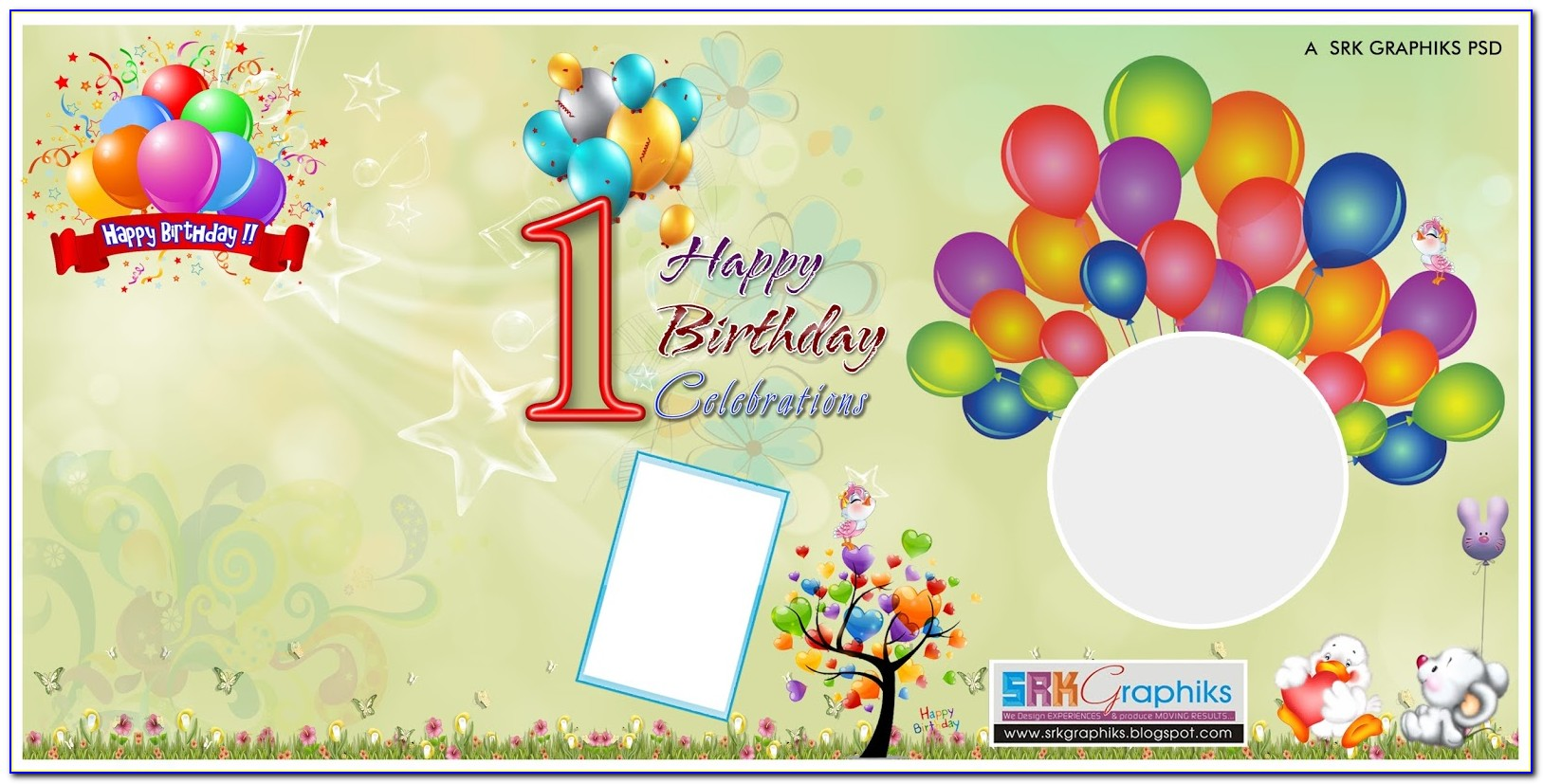 Free 1 St Birthday Banner Templates