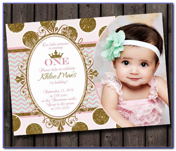 Free 1 St Birthday Invitation Templates Photoshop