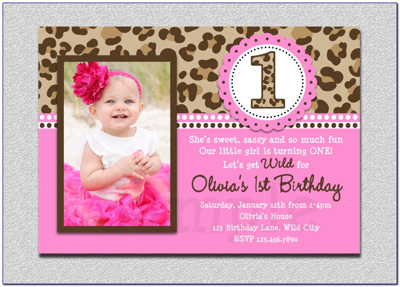 Free 1st Birthday Invitation Template