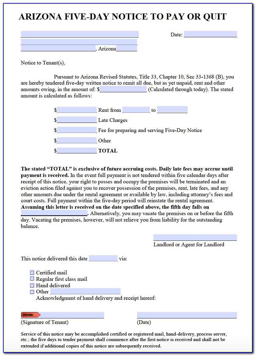Free 30 Day Eviction Notice Template