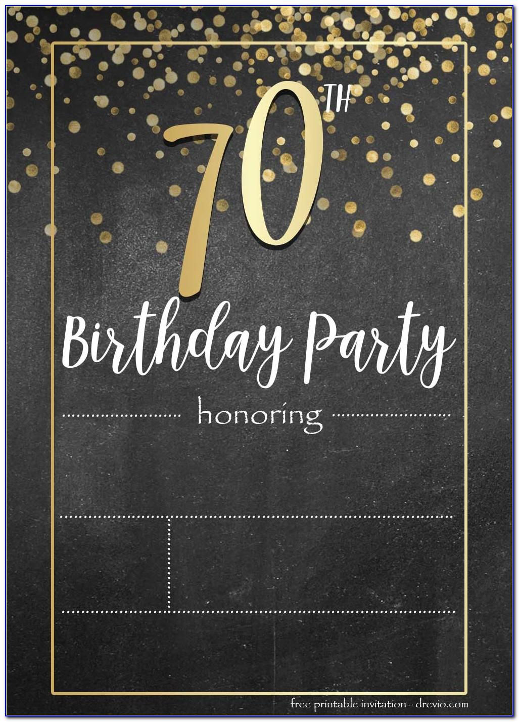 Free 40th Birthday Email Invitation Templates