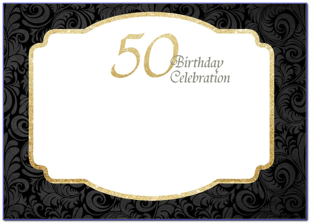 Free 50 Th Birthday Invitation Maker