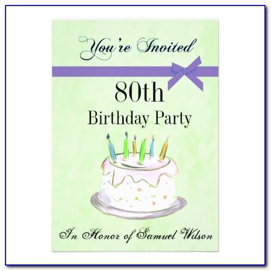 Free 80 Th Invitation Templates