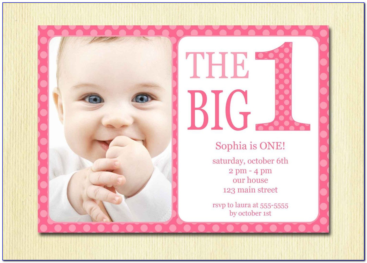 Free Baby's 1st Birthday Invitation Templates