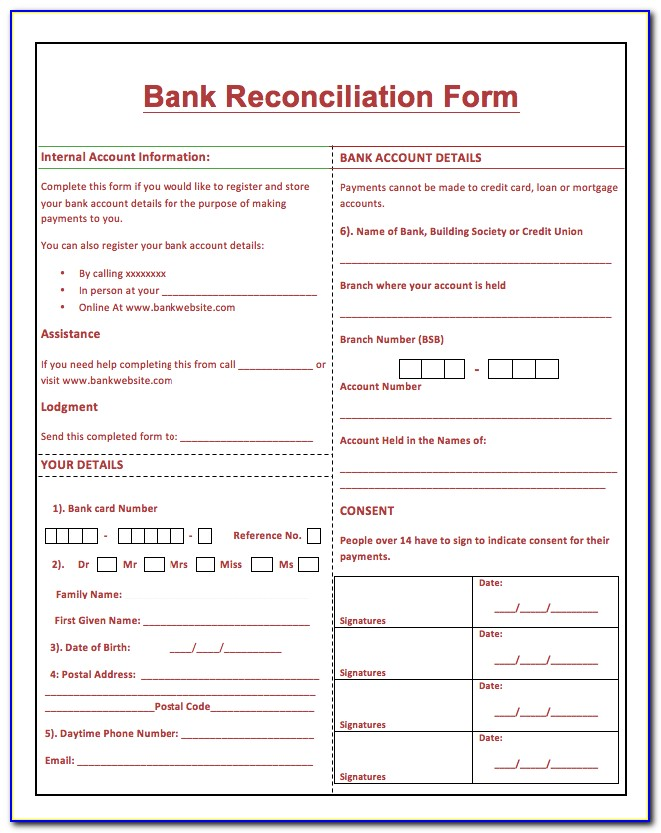 Free Bank Statement Reconciliation Template
