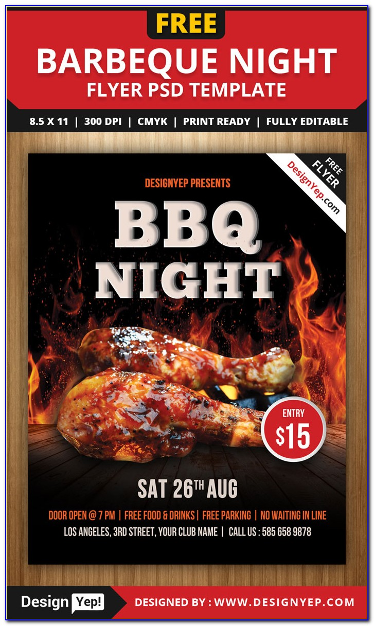 Free Bbq Flyer Template Photoshop