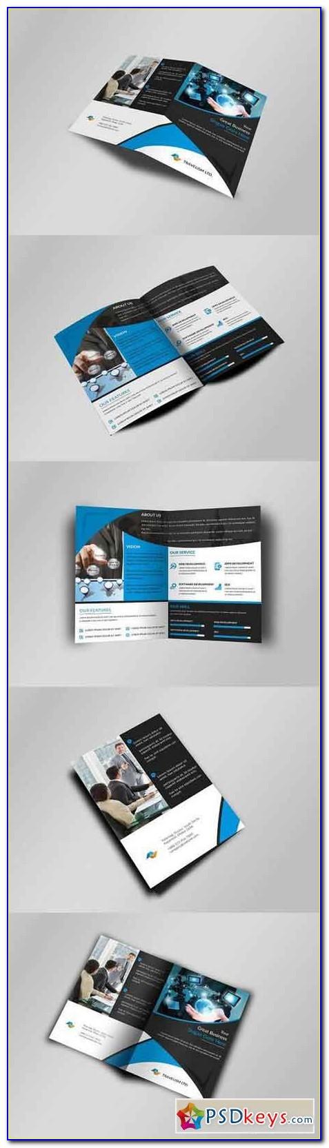 Free Bi Fold Brochure Template Illustrator