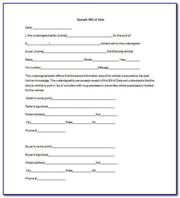 Free Bill Of Lading Form Pdf