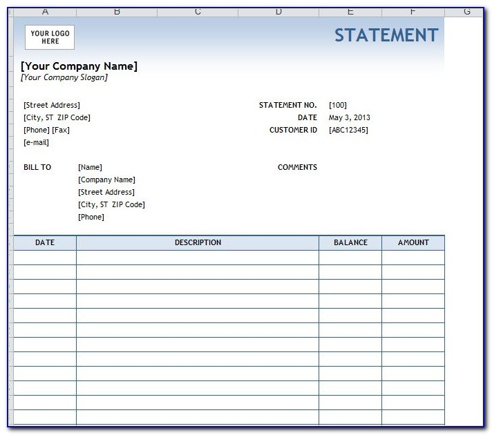 Free Billing Excel Templates