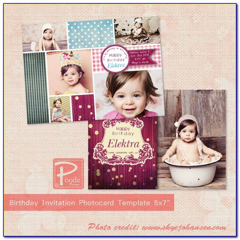 Free Birthday Invitation Photoshop Template