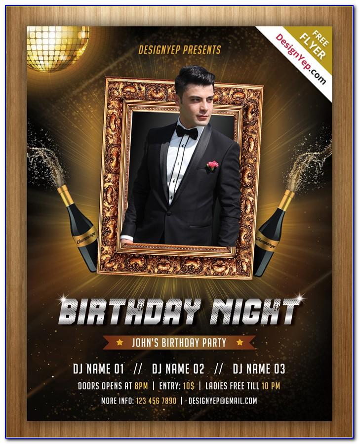 Free Birthday Invitation Template Psd