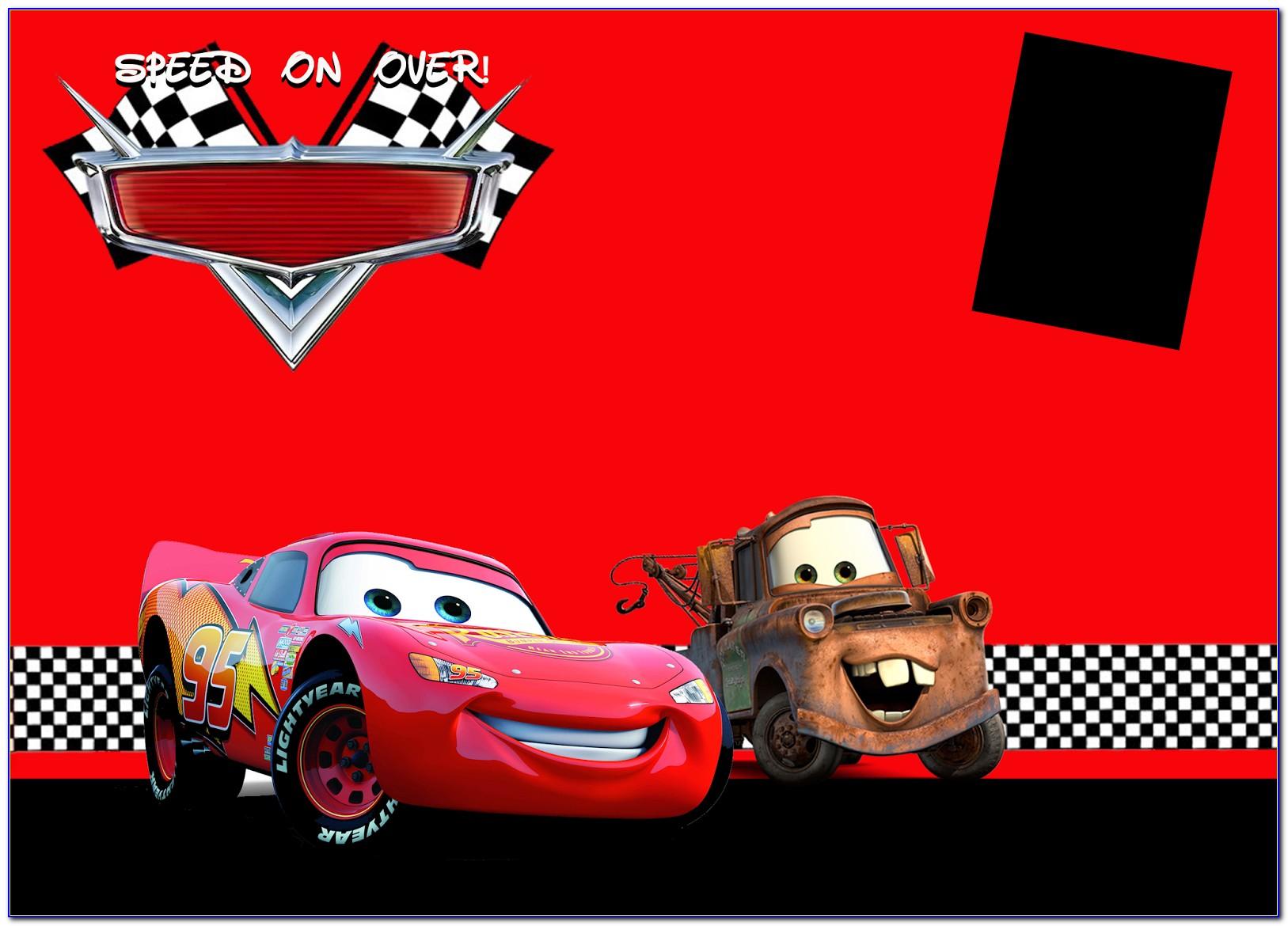 Free Birthday Invitation Templates Cars
