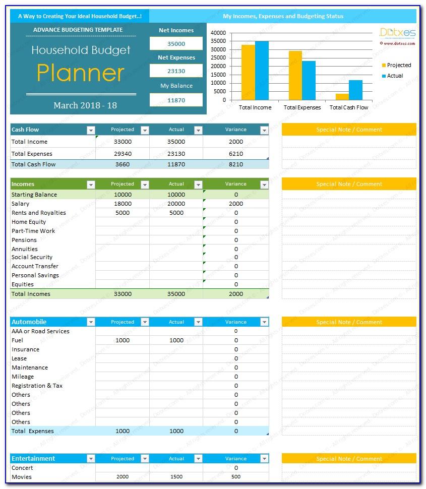 Free Budget Templates Microsoft Excel