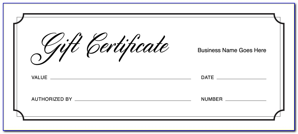 Free Business Gift Certificate Template