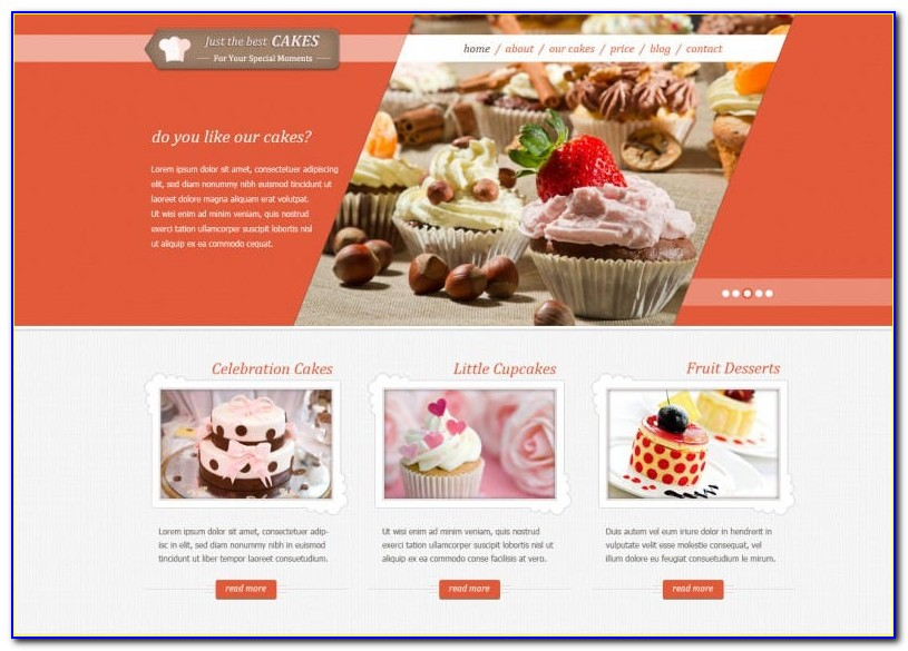 Free Cake Shop Template Download