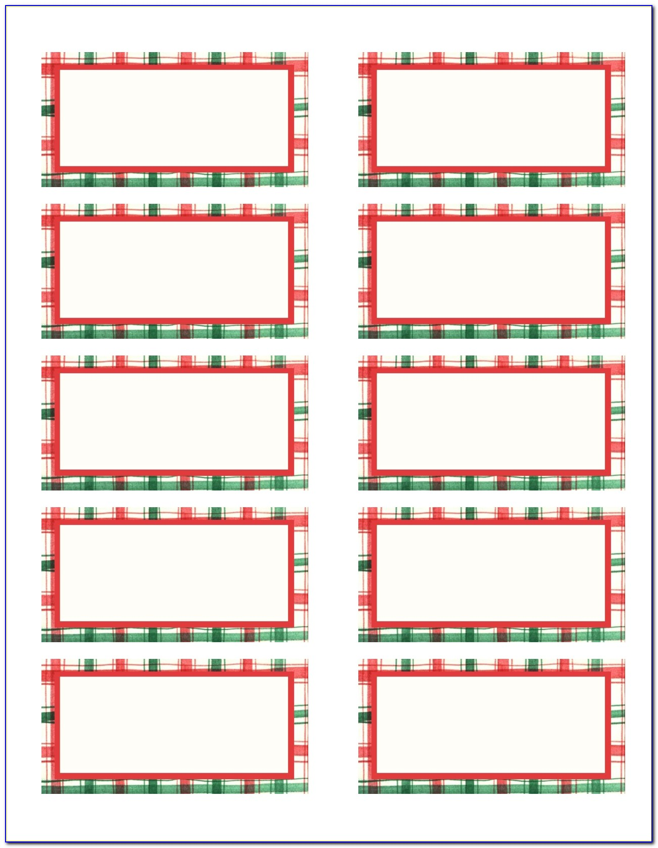 Free Christmas Address Label Template For Word