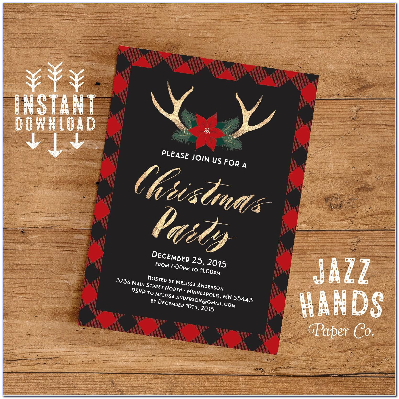 Free Christmas Invitation Templates Printable