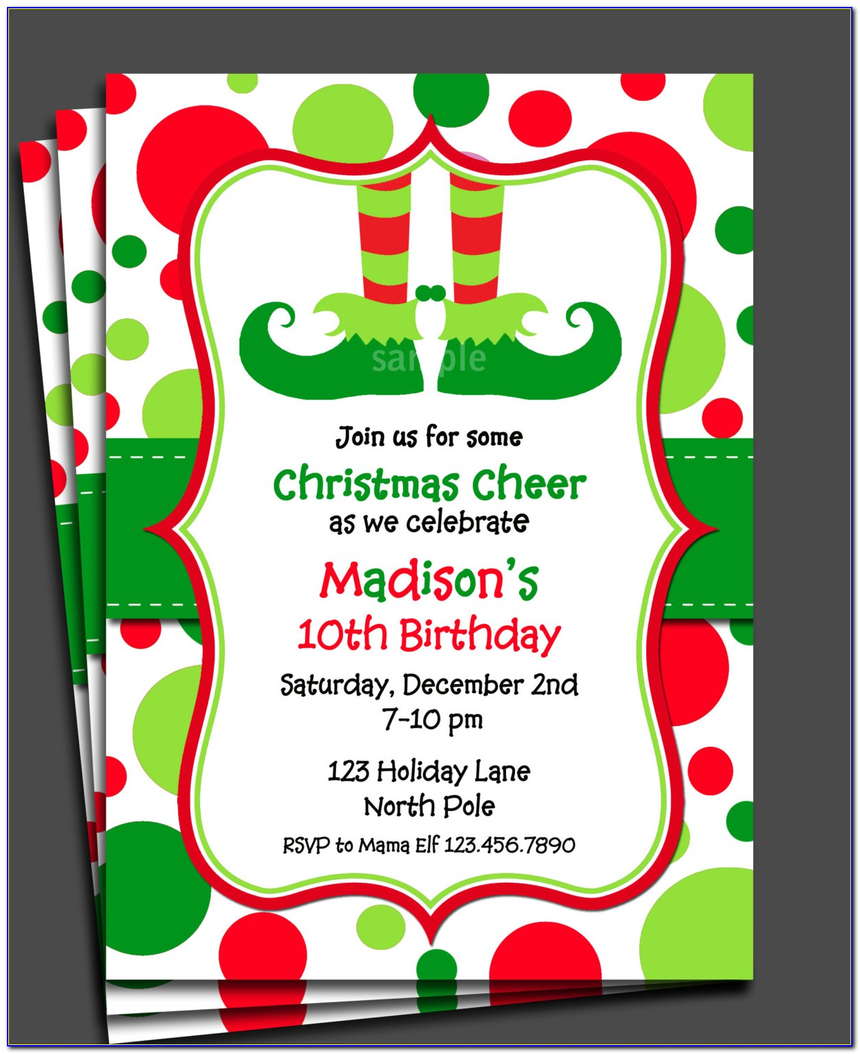 Free Christmas Invitations Templates Australia