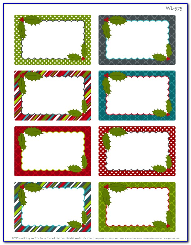 Free Christmas Label Templates For Word