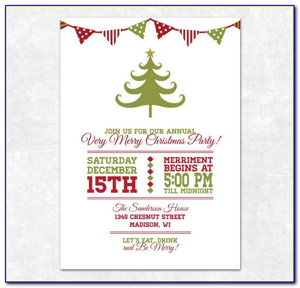 Free Christmas Party Invitation Templates Printable