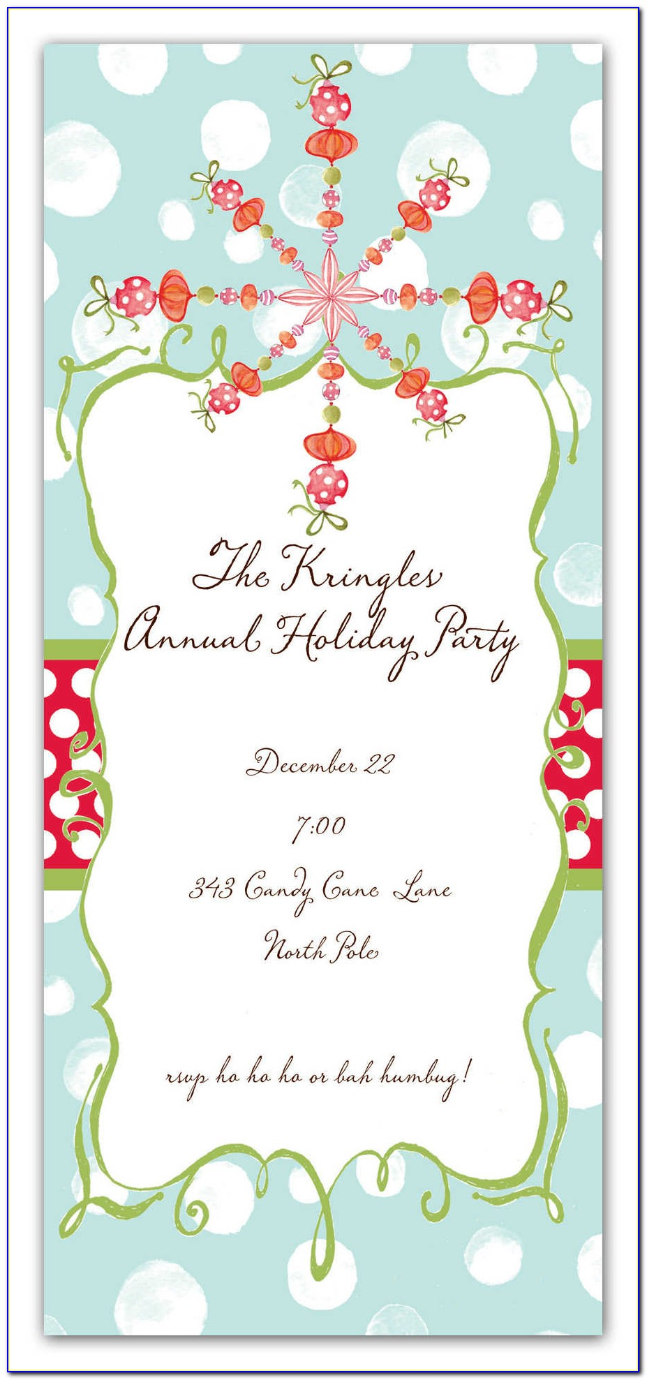 Free Christmas Party Invitation Templates Uk