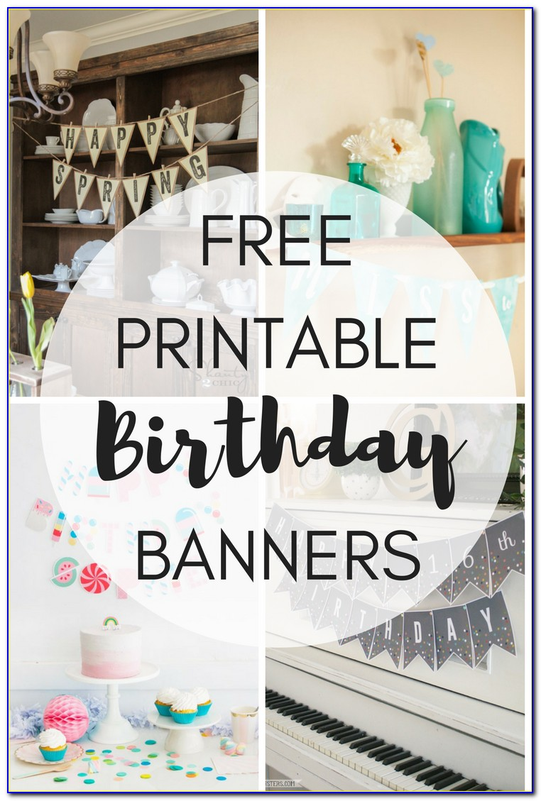 Free Download Birthday Banner Template