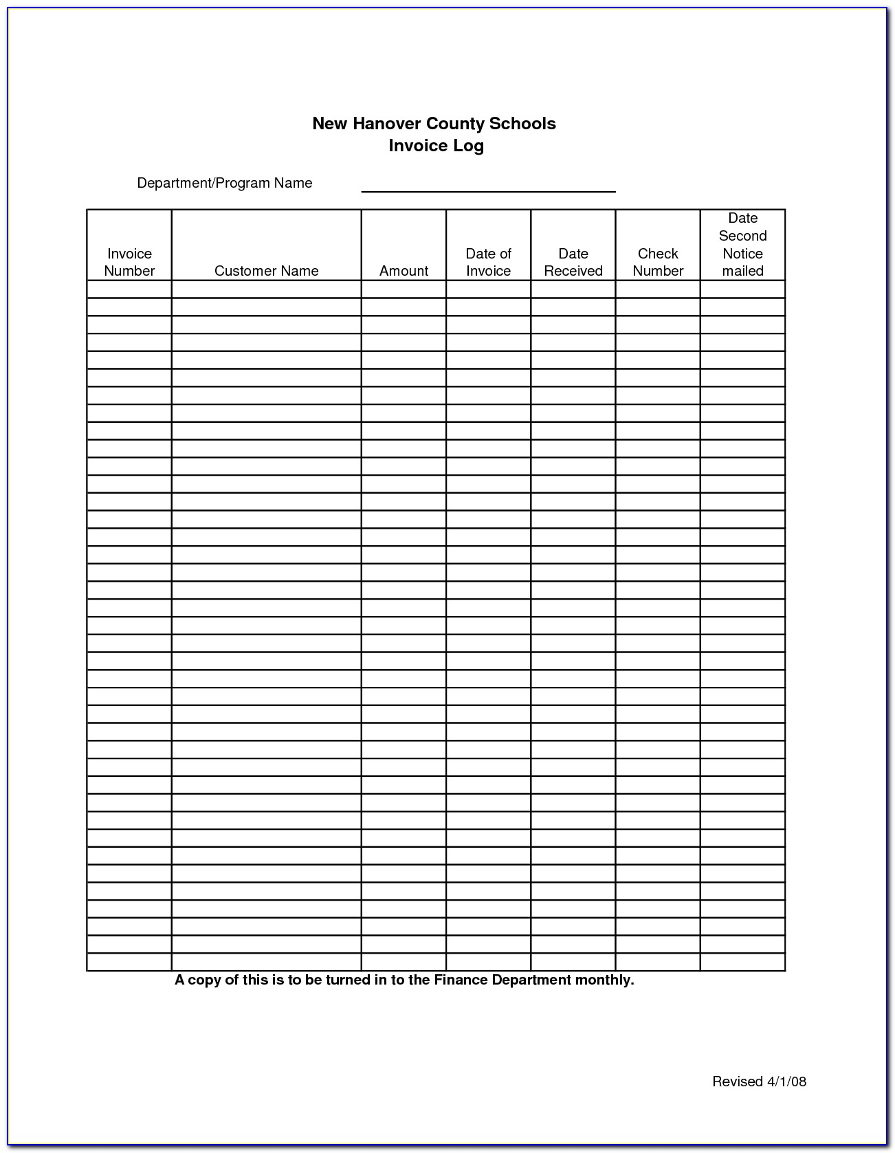 Free Excel Invoice Tracking Template