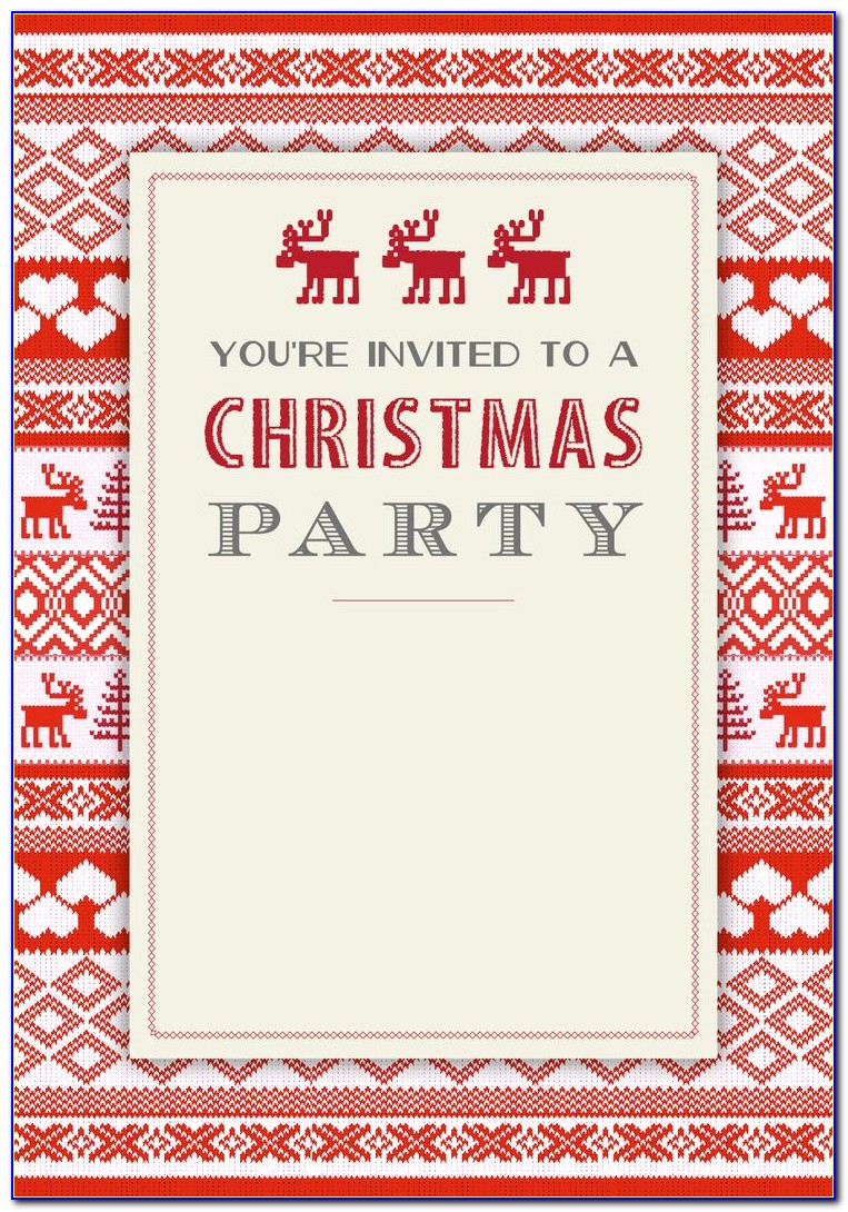 Free Printable Christmas Invitations Templates