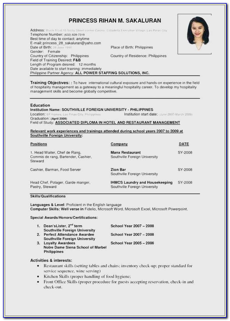 How To Find Resume Format In Microsoft Word