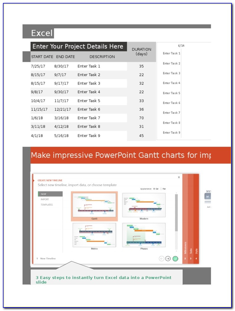 How To Use Gantt Chart Template In Excel 2016