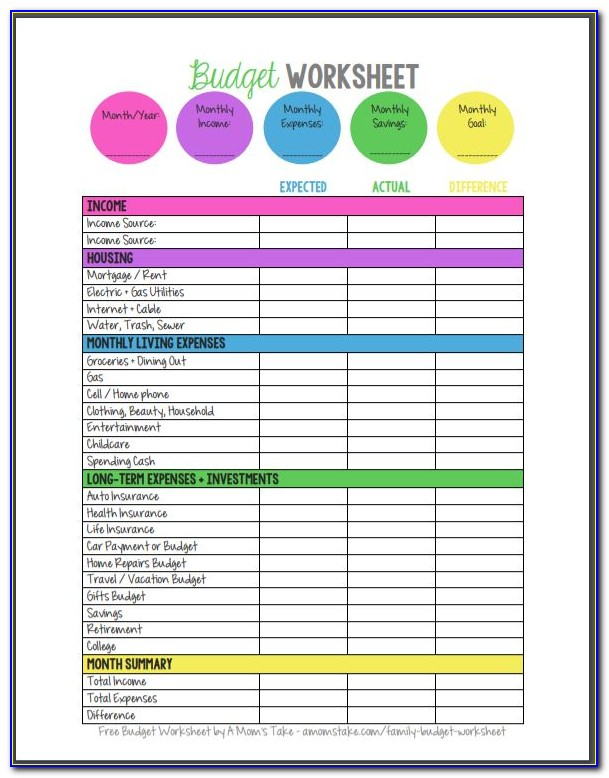 Microsoft Excel Free Budget Templates